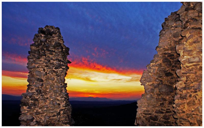 Západ slnka z hradu