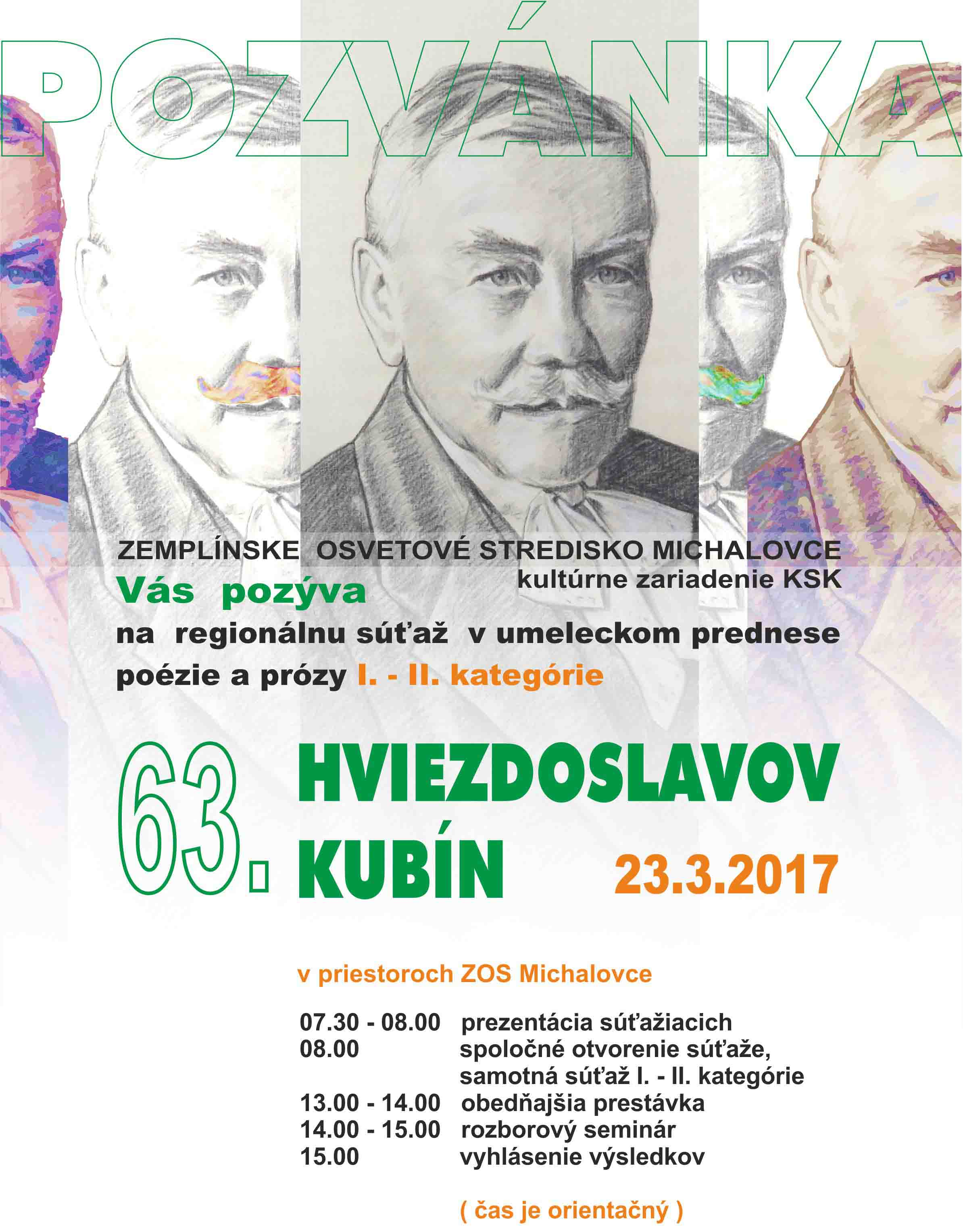 HVIEZDOSLAVOV KUBIN 2017
